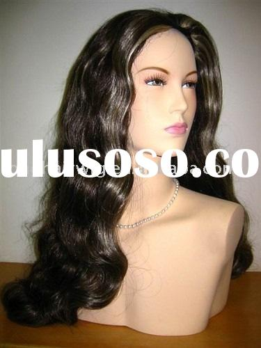 Beautiful 100% real hair body wave full lace wig
