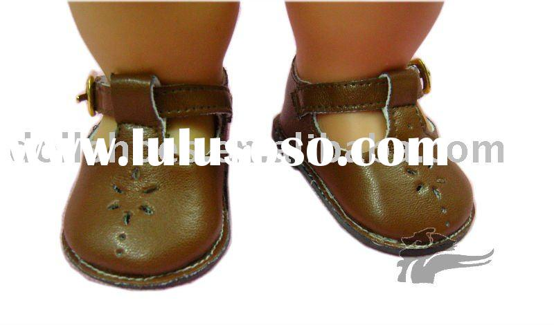 Brown American girl doll shoes 18inch doll shoes