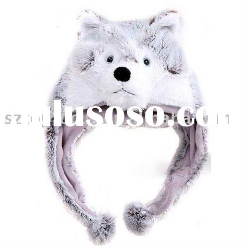 CUTE ANIMAL HATS HUSKY DOG PLUSH ANIMAL HAT AND CAP FOR PARTY