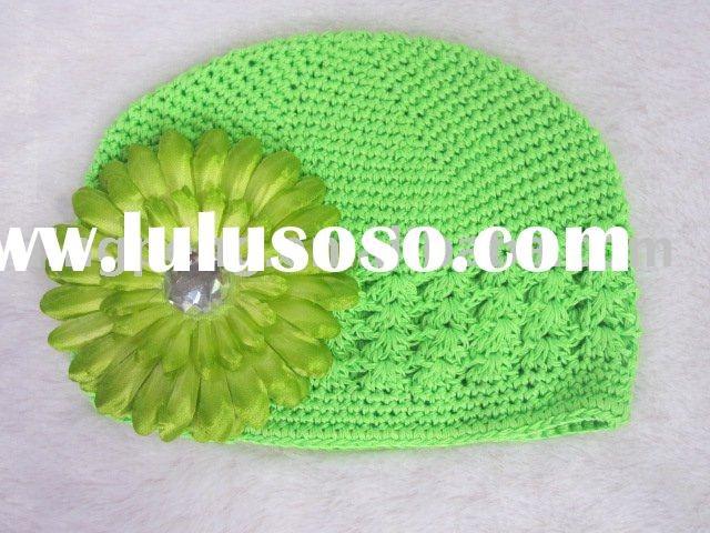 Colorful kufi crochet hat