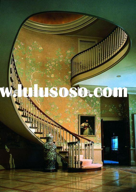 Costume Solid Oak Wooden Stairs,Spiral Stairs