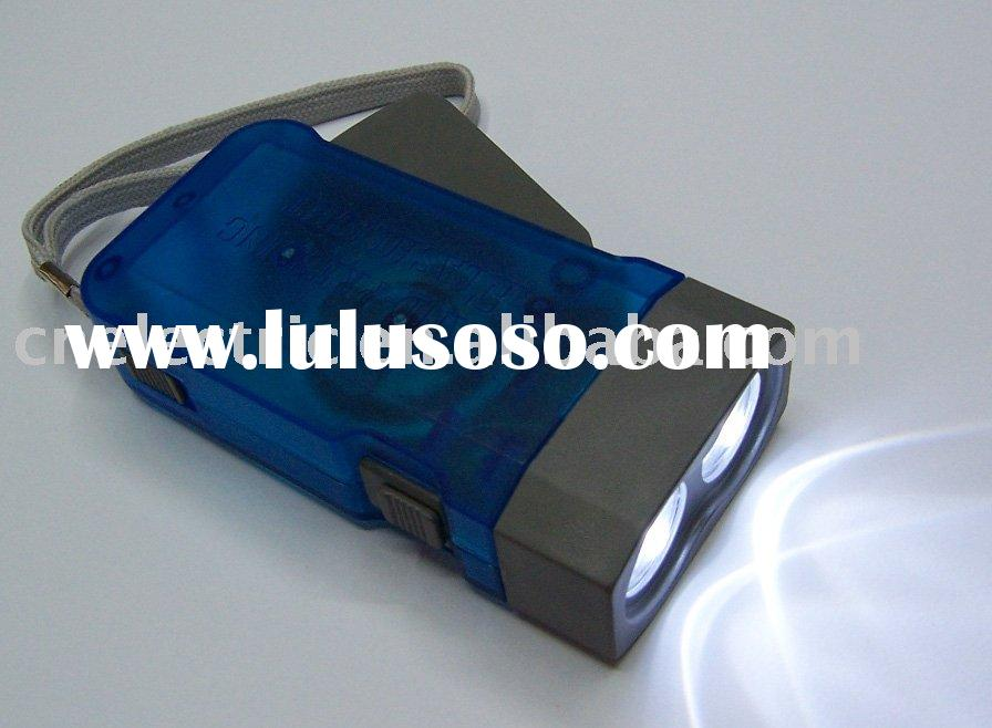 Dynamo LED Flashlight/Torch Generating power itself by pressing