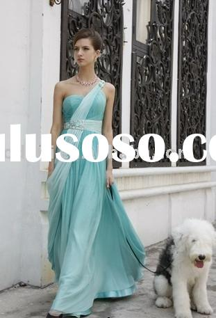 Elegant One-shoulder Chiffon Prom Evening Dress