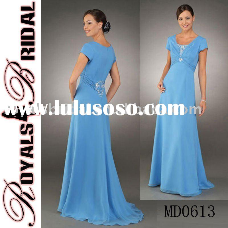 Elegant Short Sleeve Mother Dress And Mom Wear