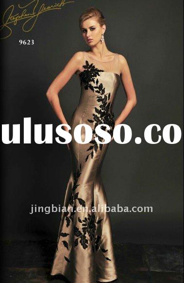 Elegant mermaid strapless neckline evening dress latest design stylish prom dress 2012 fashion party