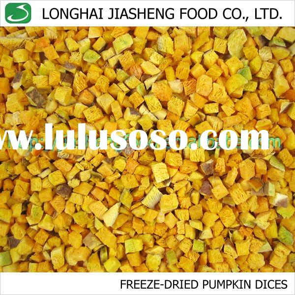 FD Pumpkin Dices, Natural Vacuum Freeze Dried Vegetables