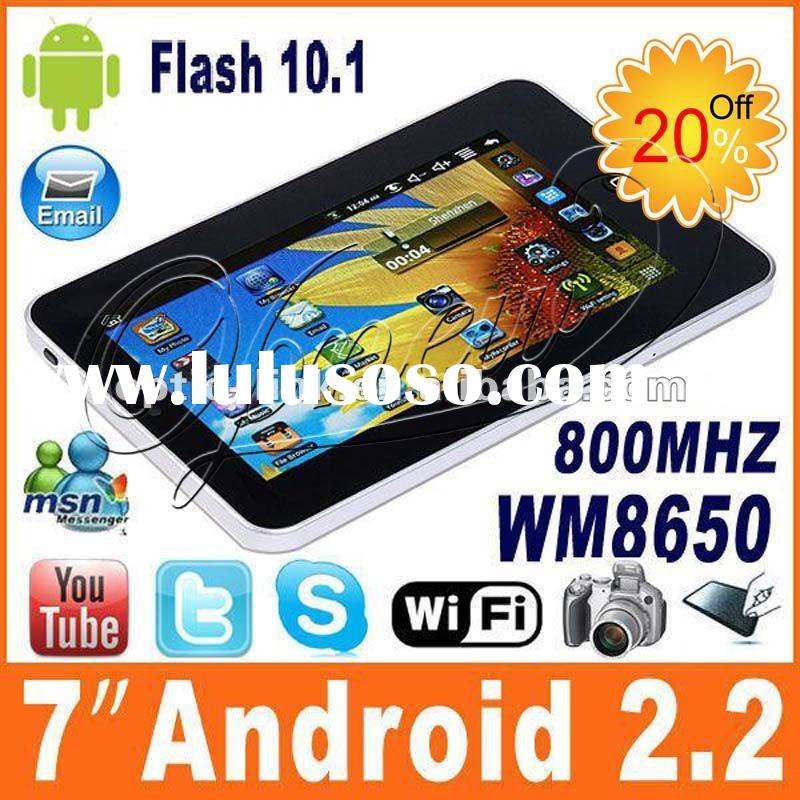 Factory 7 inch Touch laptop computer VIA8650 Android 2.2 Tablet pc MID,4GB 256M with WIFI Camera dro