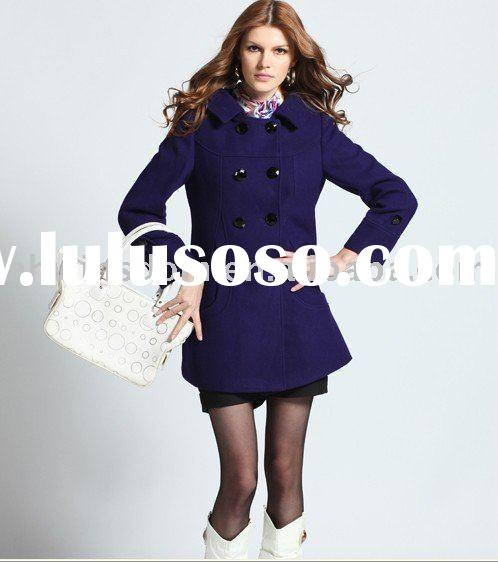 Factory direct sale high quality source of goods winter clothing new style woolen cloth coat