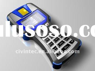 Fingerprint / Contact / RFID Contactless Smart Card Handheld Reader with GPRS, WIFI option