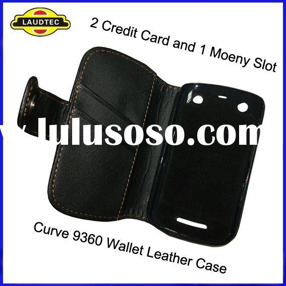 For BlackBerry Curve 9360, Wallet Leather Case, New Arrival, Hot Sale