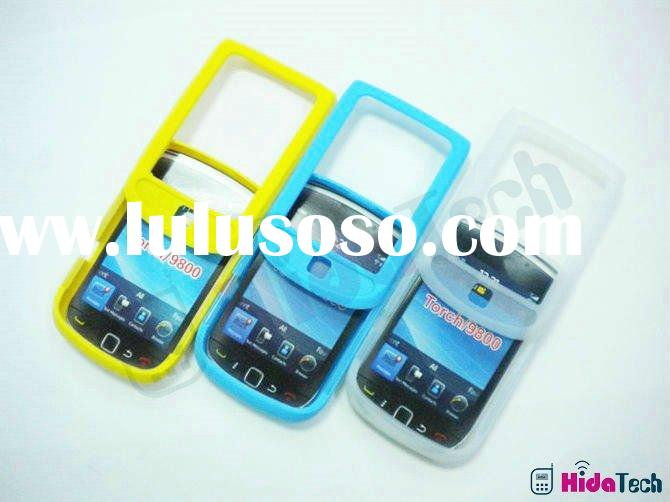 For Blackberry Torch 9800 Protective Silicon Silicone Cases Cover, soft rubber gel case