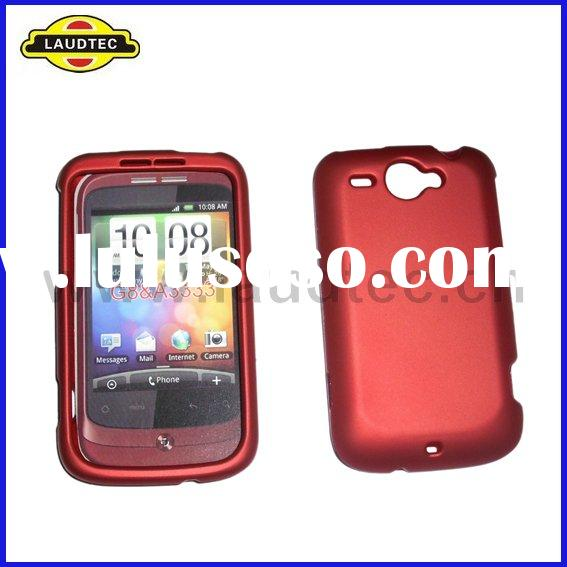 For HTC Wildfire Rubberized Hybrid Hard Case Back Cover