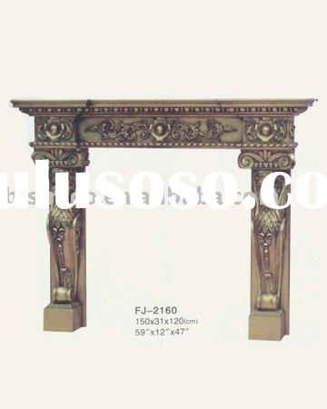 French fireplace,mantel,hand carved and solid wood furniture