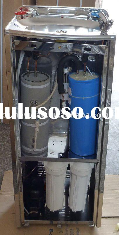 Hot & Cold Stainless steel water dispenser with UV(water purfier)(compressor cooling)