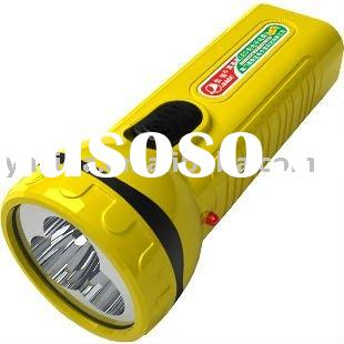 Hot-sales ABS material more lamps series rechargeable led torch light