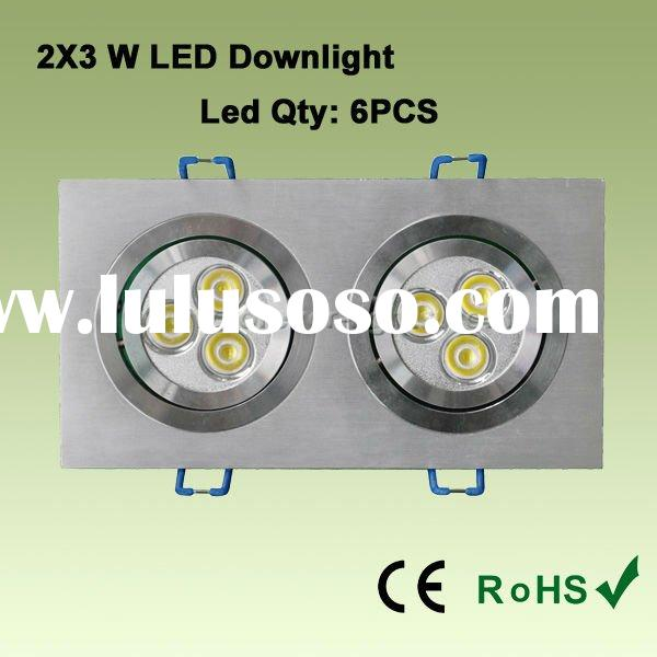 LED recessed downlight with anodized Aluminum housing,External transformer is easy to install and ma