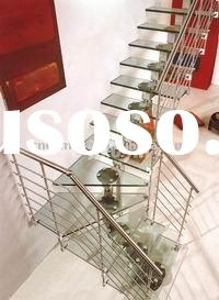 L-shape Stainless Steel Glass Staircase(DMS-6929)
