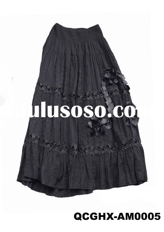 Ladies straight long lace skirt