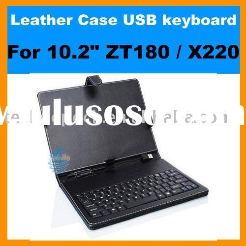 Leather Case Keyboard for 10'' Tablet PC