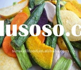 Low Temperture Vacuum Fried Vegetable and Fruits Snacks(veggie chips )
