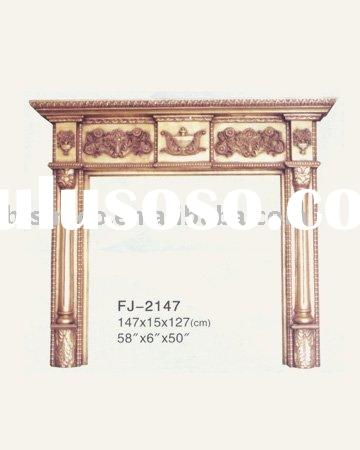 Luxury hand carved mantel,European fireplace,electric insert,solid wood furniture