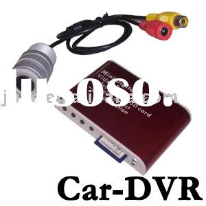 Mobile Car DVR +wired cameras motion detect