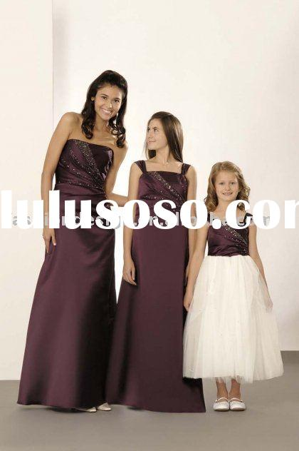 Modest junior bridesmaid dresses,formal prom gowns,evening dresses BD090