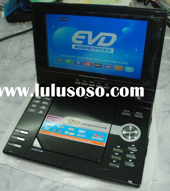 "New! 9"" Cheap portable DVD player with TV receiver"