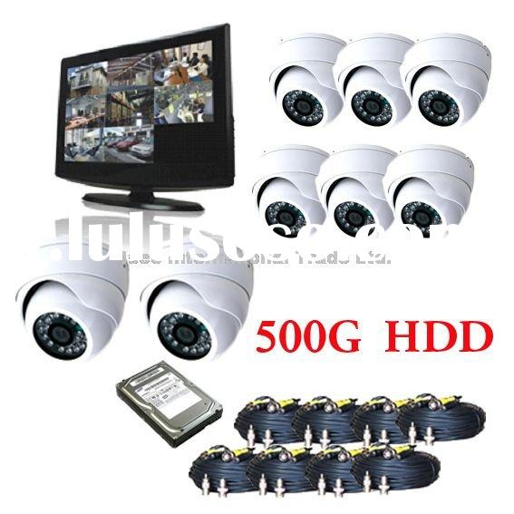 New CCTV H.264 LCD DVR 8 channel surveillance security system