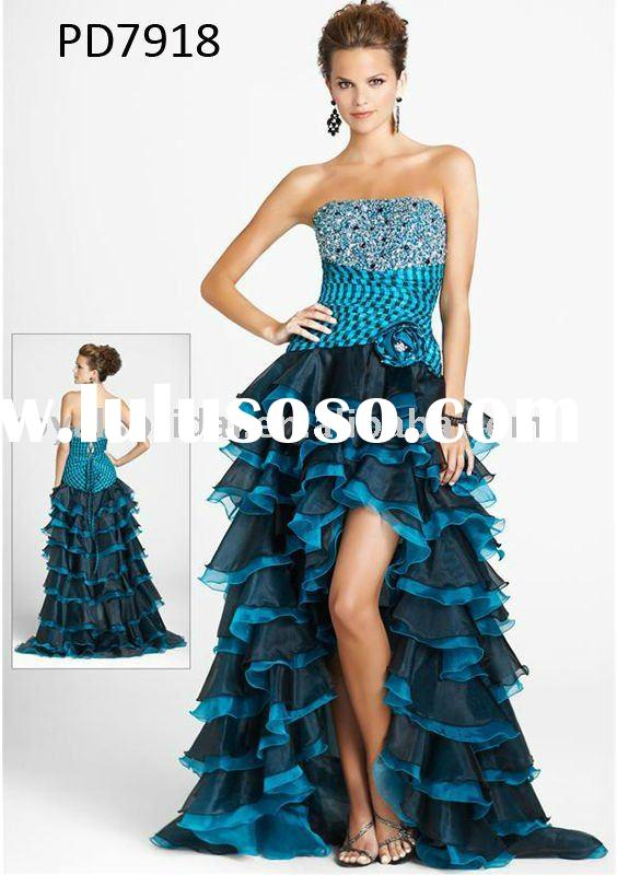 PD7918 2011 Charming Beaded Strapless Organza Prom Dress