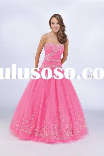 PM337 Appliqued A-line Organza Sweetheart Prom Dress