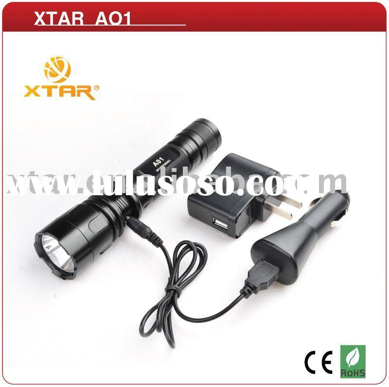 Rechargeable 4 DIY Modes CREE XP-E Q5 XTAR LED Flashlight