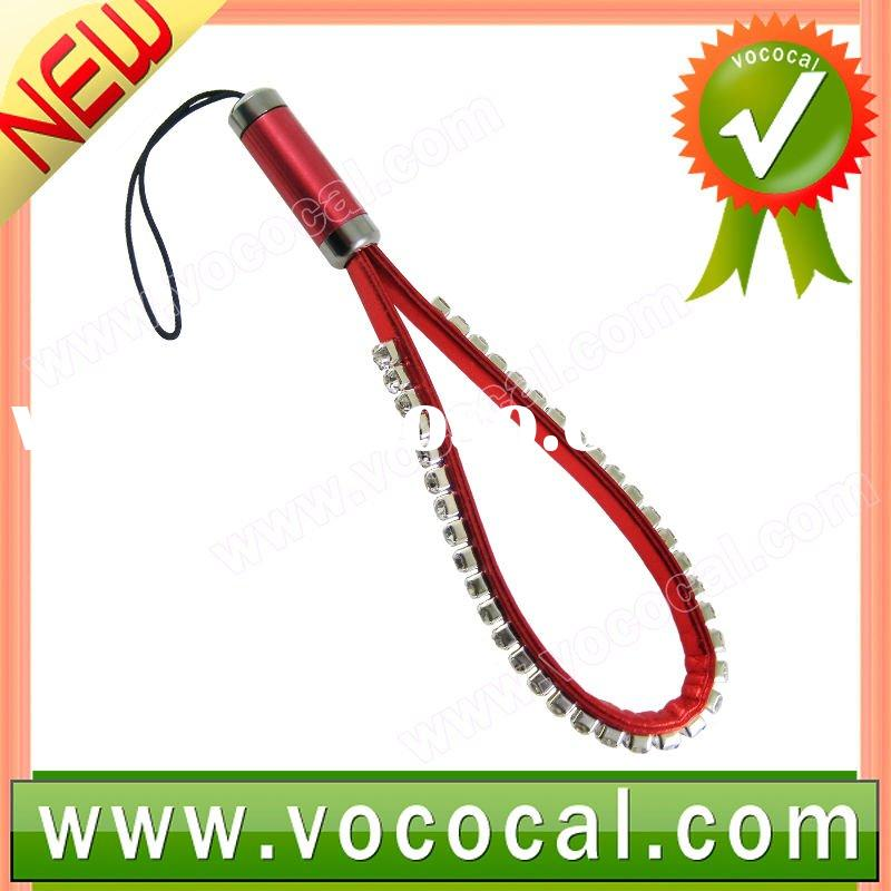 Red Bling Crystal Cell Phone Strap Lanyard
