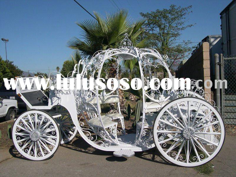 Romantic pumpkin horse carriage