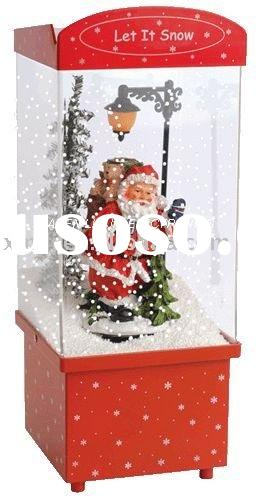 Santa Christmas Decoration Snowing Lighting Music