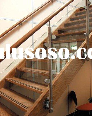 Solid Wood Stainless Steel Stair