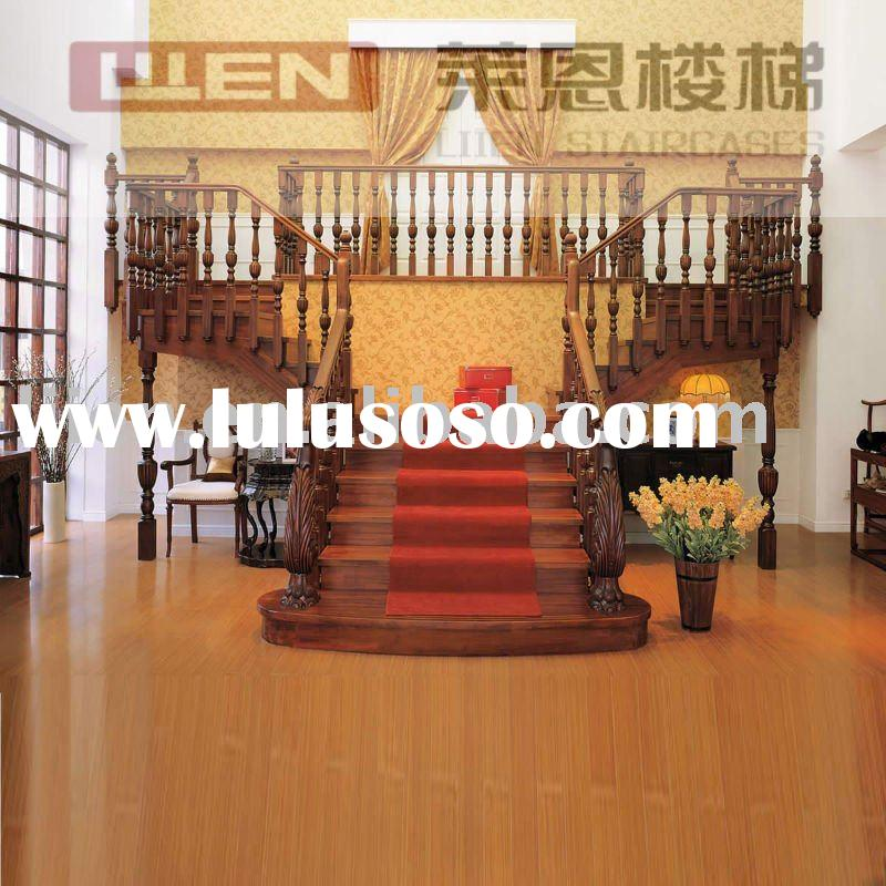 Solid Wood Stairs,Classic Oak Colino Straight Staircase by Custom Curved Wood