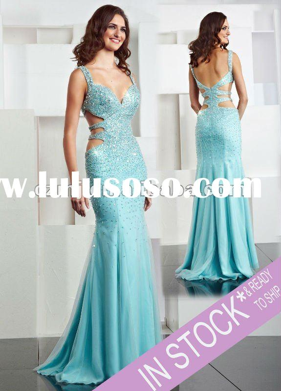 Spring 2012 new arrival beaded long evening dresses