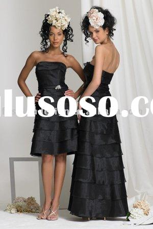 Strapless tiered dress with pin at waist and detachable skirt bridesmaid dresses available in matern