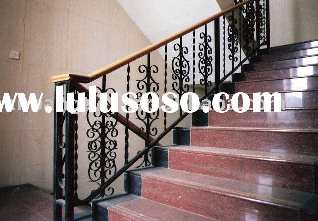 The wrought iron stair