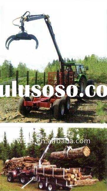 Timber loading and transporting trailer