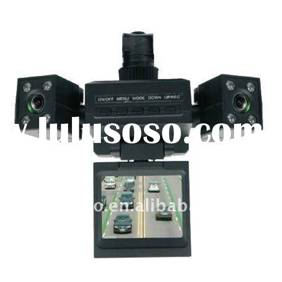 Transformer style night vision two camera car dvr