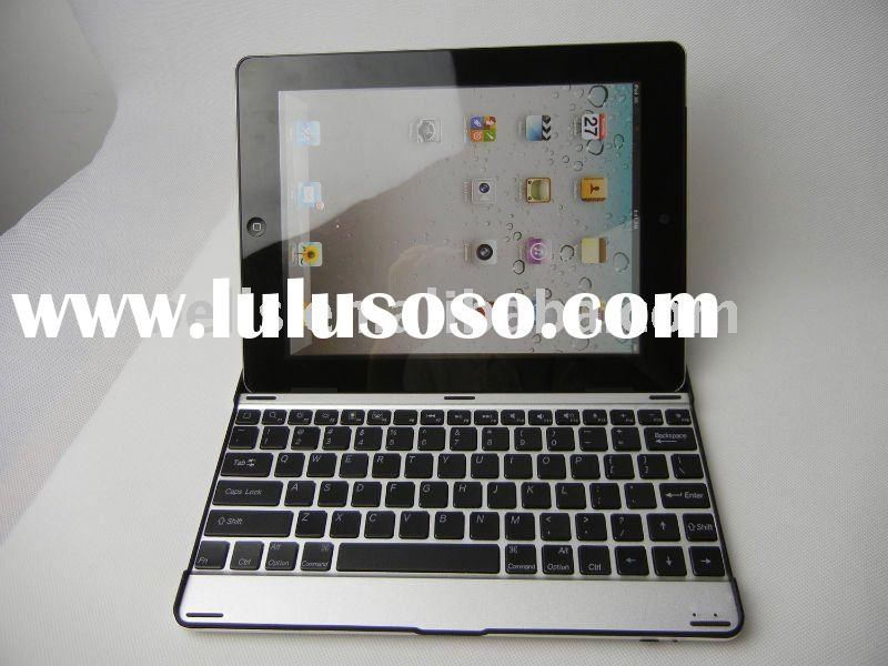 Ultra-thin bluetooth keyboard with aluminium case for iPad 2 tablet pc Iphone&Mac OS&Galaxy