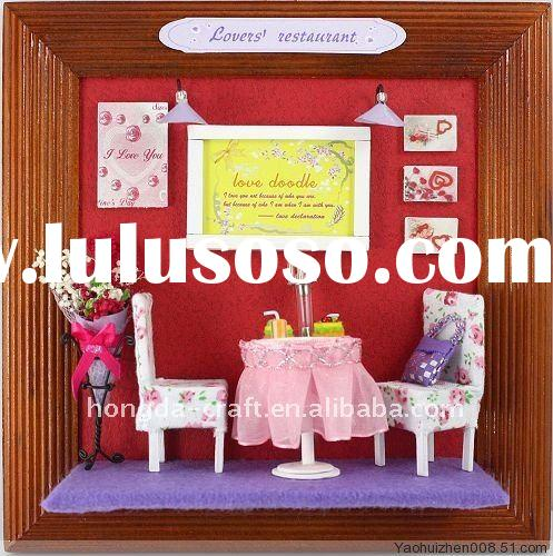 Wholesale-HOT! DIY wooden toy my little house#Lovers' Restaurant