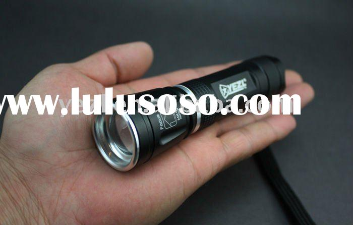 YEZL T8 CREE LED R5 lens zoom flashlight 5 modes