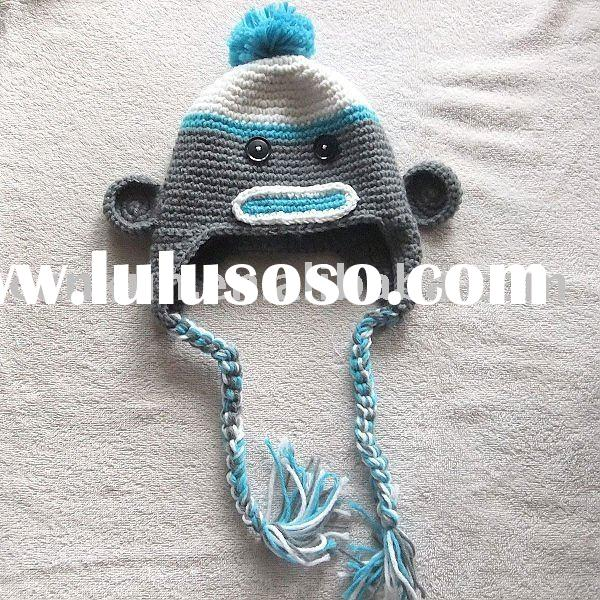 acrylic hand knitted animal winter hats