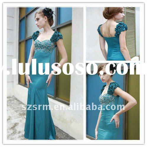 az0038 elegant green long formal evening dress