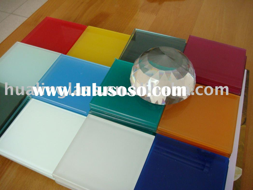 back painted glass/color painted glass/color glass title/color glazing laminated glass with ISO9001-