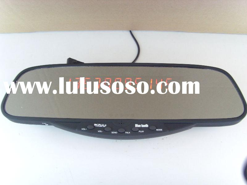 car bluetooth mirror, LED Bluetooth Stereo handsfree rearview mirror