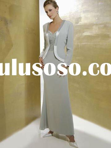 elegant with long sleeve jacket mother of the bride M41